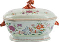 Ceramics & Porcelain, A Chinese Export-Style Porcelain Covered Tureen. 14 inches wide x 11 inches high (35.5 cm x 27.9 cm)...