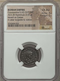 Ancients:Ancient Lots , Ancients: ANCIENT LOTS. Roman Imperial. Ca. AD 337-392. Lot of two(2) BI and AE issue. NGC XF-Choice AU.... (Total: 2 coins)
