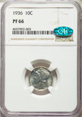 1936 10C PR66 NGC. CAC. NGC Census: (289/84). PCGS Population: (366/86). CDN: $880 Whsle. Bid for problem-free NGC/PCGS...