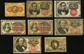 Fractional Currency, Eight Fractional Notes Totaling $1.45 in Face Value Very Good or Better.. ... (Total: 8 notes)