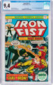 Iron Fist #1 (Marvel, 1975) CGC NM 9.4 White pages