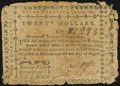 Colonial Notes, North Carolina August 8, 1778 $20 American Virtue Triumphant Very Good-Fine.. ...