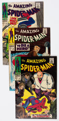 Silver Age (1956-1969):Superhero, The Amazing Spider-Man Group of 9 (Marvel, 1967-68) Condition: Average FN-.... (Total: 9 Comic Books)