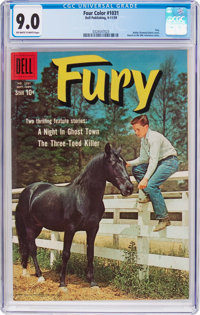 Four Color #1031 Fury (Dell, 1959) CGC VF/NM 9.0 Off-white to white pages