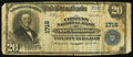 National Bank Notes, Alexandria, VA - $20 1902 Plain Back Fr. 653 The Citizens NB Ch. #1716. ...