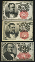 Fractional Currency, Two Fr. 1266 10¢ Fifth Issue Notes About New;. Fr. 1309 25¢ Fifth Issue Extremely Fine.. ... (Total: 3 notes)