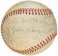Autographs:Baseballs, Pacific Coast League Multi-Signed Baseball (4 Signatures) from theBeans Reardon Collection. . ...
