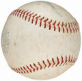 Autographs:Baseballs, Umpires Multi-Signed Baseball ( Signatures) from the Beans ReardonCollection.. ...
