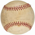 Autographs:Baseballs, 1966 Chicago Cubs Team Signed Baseball (25 Signatures) from theBeans Reardon Collection. . ...