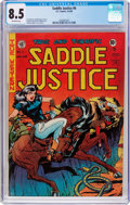 Saddle Justice #6 (EC, 1949) CGC VF+ 8.5 Off-white pages