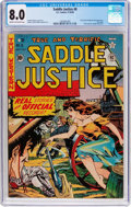 Golden Age (1938-1955):Western, Saddle Justice #8 (EC, 1949) CGC VF 8.0 Cream to off-white pages....