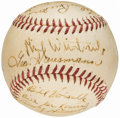 Autographs:Baseballs, 1945 New York Giants Team Signed Baseball (15 Signatures) from theBeans Reardon Collection. . ...