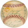 Autographs:Baseballs, 1954 New York Giants Team Signed Baseball (26 Signatures) from theBeans Reardon Collection.. ...