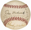 Autographs:Baseballs, Baseball Greats Multi-Signed Baseball with Mel Ott (23 Signatures) from the Beans Reardon Collection.. ...