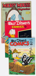 Golden Age (1938-1955):Miscellaneous, Golden Age Walt Disney Related Comics Group of 3 (Various Publishers, 1937-52).... (Total: 3 Comic Books)