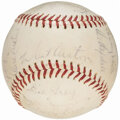 Autographs:Baseballs, 1958 Los Angeles Dodgers Team Signed Baseball (24 Signatures) fromthe Beans Reardon Collection.. ...