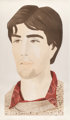 Alex Katz (b. 1927) Large Head of Vincent, 1982 Etching and aquatint in colors on Arches Cover paper 54 x 28-5/8 inch