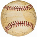 Autographs:Baseballs, 1939 New York Yankees, World Series Champions, Team Signed Baseball(23 Signatures) from the Beans Reardon Collection.