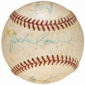 Autographs:Baseballs, 1957 World Series Umpires Multi-Signed Baseball (5 Signatures) fromthe Beans Reardon Collection.. ...
