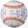 Autographs:Baseballs, 2001 St. Louis Cardinals Team Signed Baseball (29 Signatures) -Albert Pujols Rookie Year.. ...