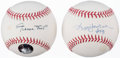Autographs:Baseballs, Reggie Jackson & Willie Mays Single Signed Baseball Lot of 2.....