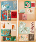Animation Art:Limited Edition Cel, Retta Scott's Personal Portfolio of Greeting Cards and Flyers (c.1960-70)....