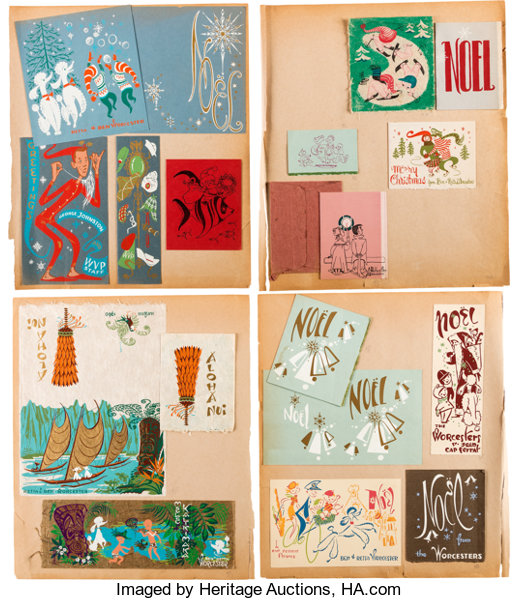 Retta scotts personal portfolio of greeting cards and flyers lot animation artlimited edition cel retta scotts personal portfolio of greeting cards and flyers m4hsunfo