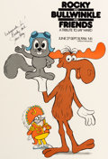 Animation Art:Poster, Rocky and Bullwinkle and Friends Tribute to Jay Ward Posterand Photo (Jay Ward, 1986)... (Total: 2 Items)