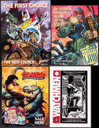 """Watchmen & Others Lot (DC Comics, 1986). Comic Book Posters (15) (22"""" X 34"""") Alan Moore and Dave Gibbons A..."""