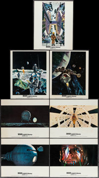 """2001: A Space Odyssey (MGM, 1968). British Front of House Color Photos (14) & Photo (8"""" X 10""""). Science Fi..."""
