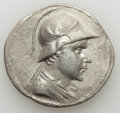 Ancients:Greek, Ancients: BACTRIAN KINGDOM. Eucratides I the Great (ca. 170-145BC). AR tetradrachm (16.15 gm). About XF, porosity, bent....