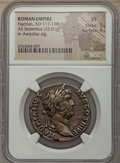 Ancients:Roman Imperial, Ancients: Hadrian (AD 117-138). AE sestertius (25.01 gm). NGC VF5/5 - 4/5....