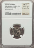 Ancients:Ancient Lots  , Ancients: ANCIENT LOTS. Roman Imperial. Ca. AD 218-235. Lot of two(2) AR denarii. NGC Choice XF-Choice AU.... (Total: 2 coins)