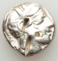 Ancients:Greek, Ancients: ATTICA. Athens. Ca. 440-404 BC. AR tetradrachm (17.00gm). Fine, bankers marks, test cuts, punches....