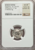 Ancients:Ancient Lots , Ancients: ANCIENT LOTS. Roman Imperial. Ca. AD 218-235. Lot of two(2) AR denarii. NGC Choice VF-XF.... (Total: 2 coins)