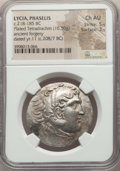 Ancients:Greek, Ancients: LYCIA. Phaselis. Ca. 218-185 BC. AR/AE fourréetetradrachm (16.50 gm). NGC Choice AU 5/5 - 3/5....