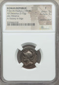 Ancients:Ancient Lots , Ancients: ANCIENT LOTS. Roman Republic. Ca. 119-100 BC. Lot of two(2) AR denarii. NGC Fine-Choice Fine.... (Total: 2 coins)