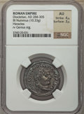 Ancients:Ancient Lots , Ancients: ANCIENT LOTS. Roman Imperial. Diocletian (AD 284-305).Lot of three (3) BI issues. NGC XF-AU.... (Total: 3 coins)