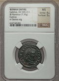 Ancients:Ancient Lots  , Ancients: ANCIENT LOTS. Roman Imperial. Ca. AD 293-311. Lot of two(2) BI folles or nummi. NGC XF-MS.... (Total: 2 coins)