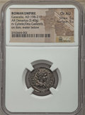 Ancients:Ancient Lots  , Ancients: ANCIENT LOTS. Roman Imperial. Ca. AD 193-217 Lot of two(2) AR denarii. NGC XF-Choice AU.... (Total: 2 coins)