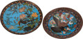 Asian, Two Japanese Cloisonné Enamel Chargers. Largest 18 inches wide(45.7 cm)... (Total: 2 Items)