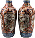 Asian:Japanese, A Pair of Japanese Imari Porcelain Floor Vases. 42 inches high(106.6 cm), Reduced... (Total: 2 Items)