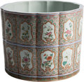 Asian:Chinese, A Chinese Enameled Porcelain Brush Pot. 8-1/2 inches high (21.5cm)...