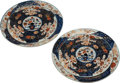 Asian, A Pair of Japanese Imari Porcelain Warming Dishes. 17 inches wide(43.1 cm)... (Total: 2 Items)