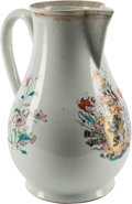 Asian, A Chinese Export Armorial Porcelain Pitcher. 12-1/2 inches high(31.7 cm)...