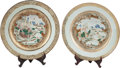 Asian:Chinese, A Pair of Chinese Export Porcelain Chargers. 12 inches high (30.4cm)... (Total: 2 Items)