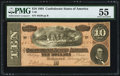 Confederate Notes, T68 $10 1864 PF-15 Cr. 545.. ...