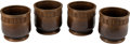 Asian:Japanese, A Set of Four Japanese Bronze Planters. 10 inches high (25.4 cm).... (Total: 4 Items)