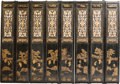 Asian:Chinese, A Chinese Partial Gilt Lacquered Eight-Panel Room Screen, 20thcentury. 118 inches wide (299.7 cm). ...