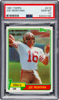 Football Cards:Singles (1970-Now), 1981 Topps Joe Montana #216 PSA Gem Mint 10....